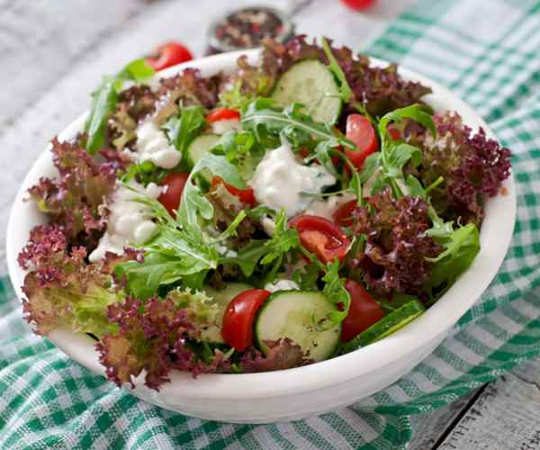 Photo of - Mediterranean Cottage Cheese Salad Topper