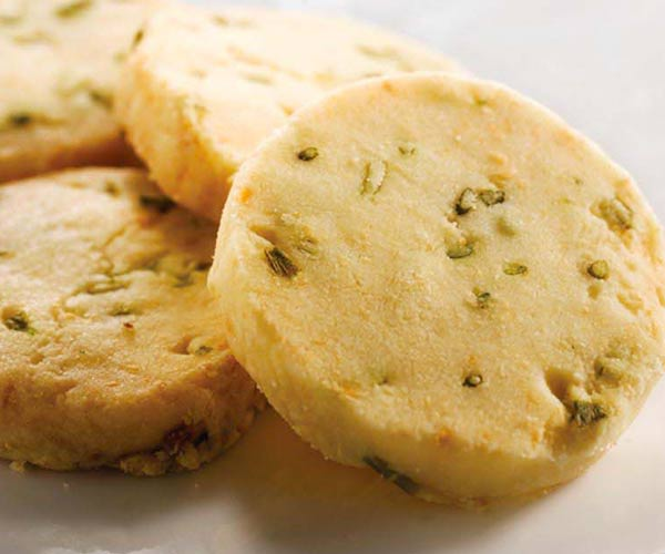 Photo of - Parmesan Chive Shortbread