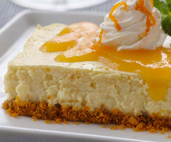 Photo of - Peach Ginger Cheesecake Bars