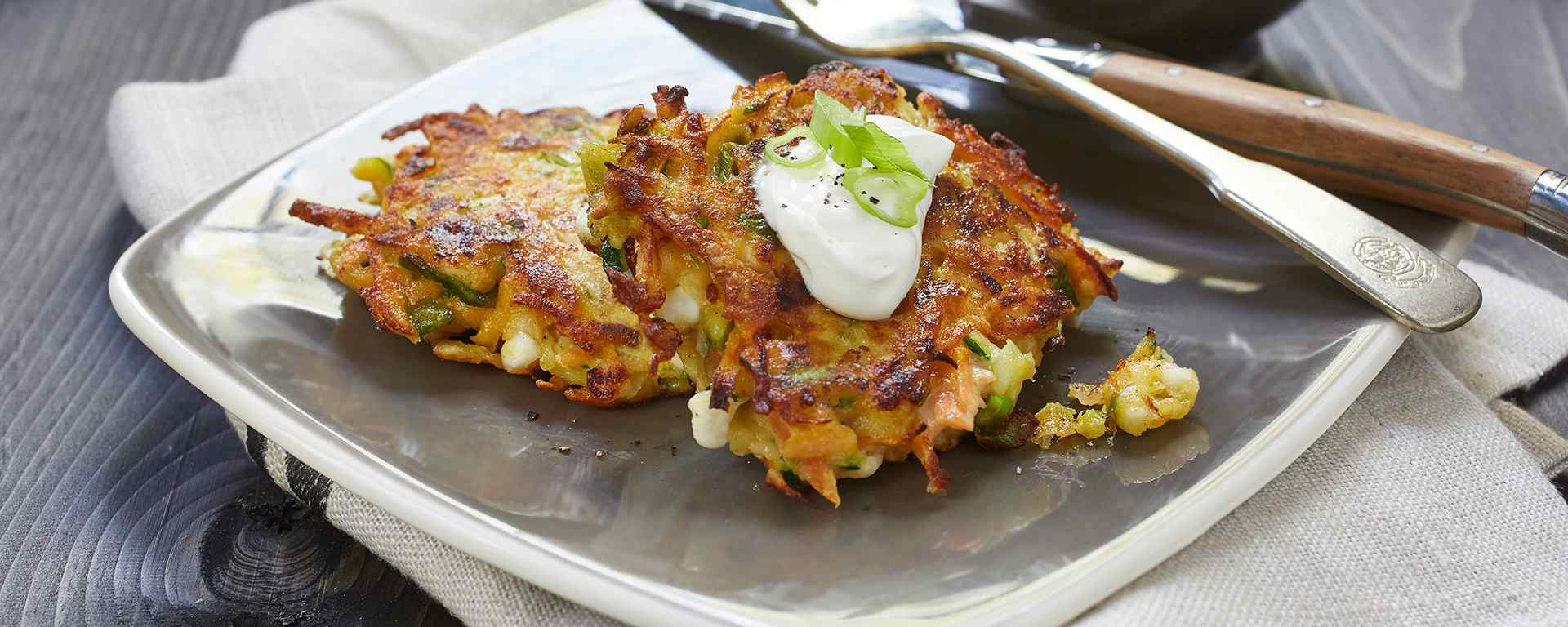 Photo for - Rainbow Veggie Pancakes with Cottage Cheese