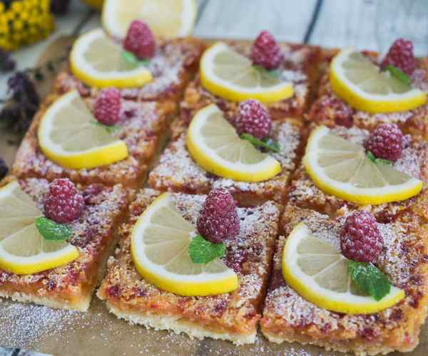 Photo of - Raspberry Lemon Squares