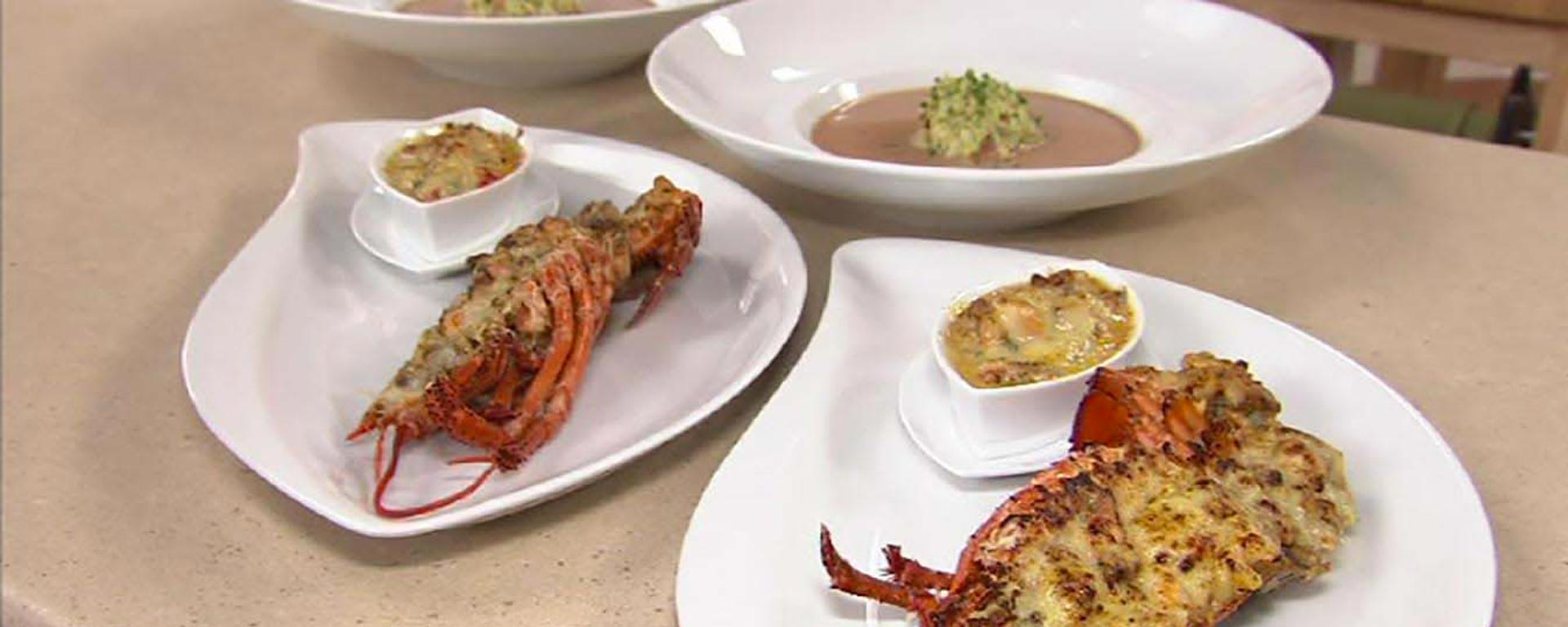 Photo for - Baked Stuffed Lobster au Gratin