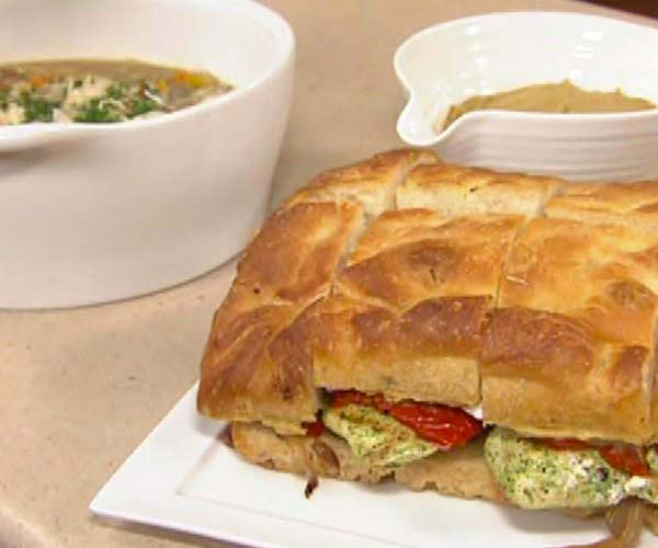 Photo of - Grilled Herb Marinated Chicken Focaccia Sandwich