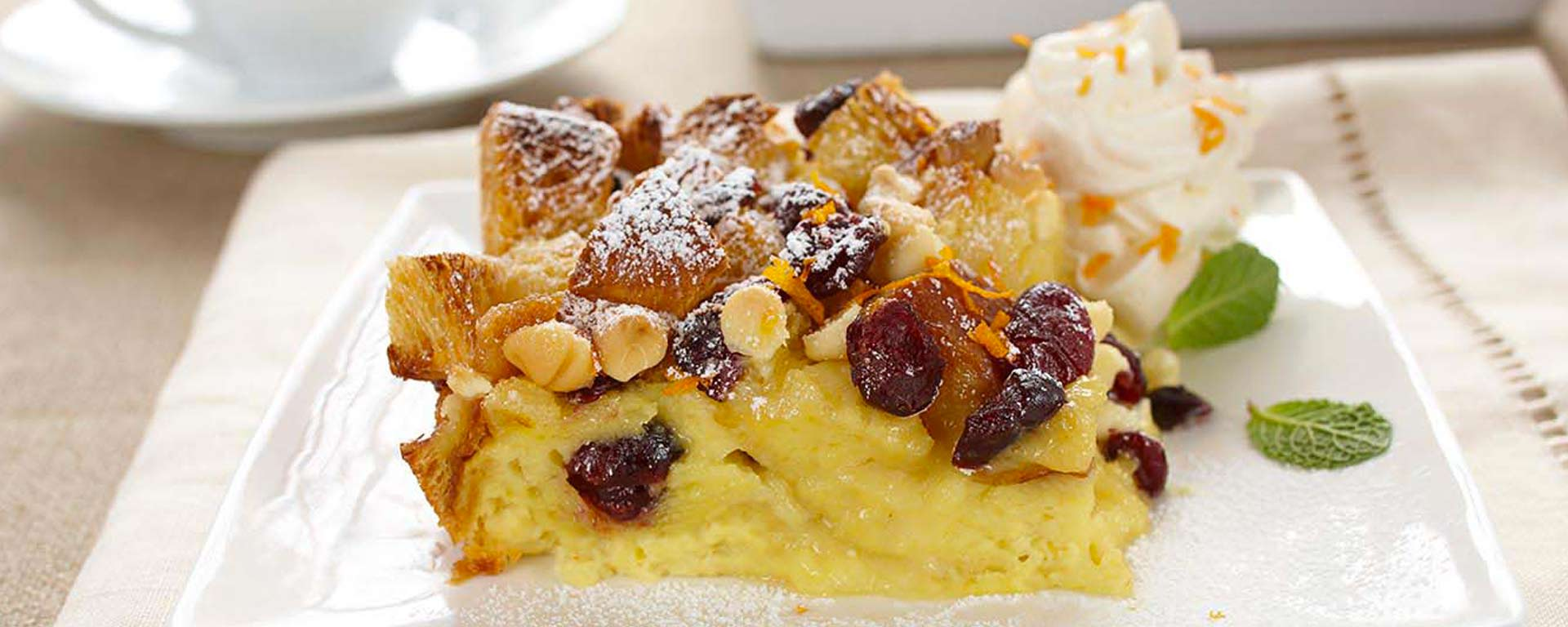 Photo for - White Chocolate Cranberry Bread Pudding