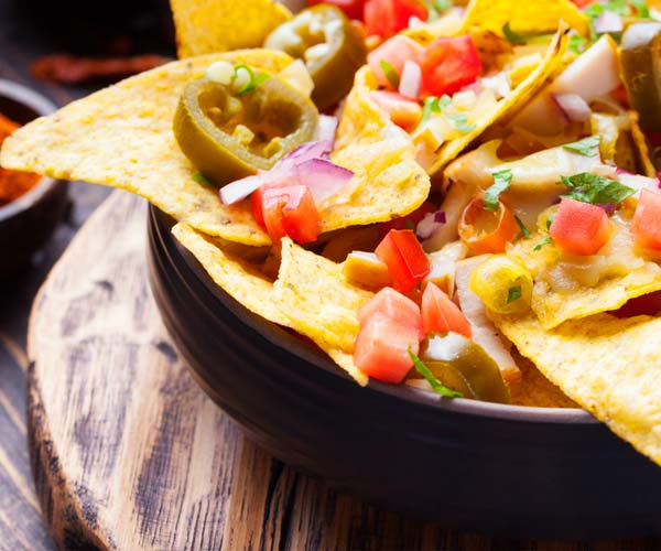 Photo of - Whole Wheat Nachos with Corn