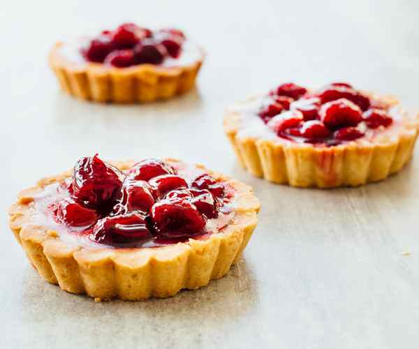Photo of - Apple Cranberry Custard Vanilla Cream Tart