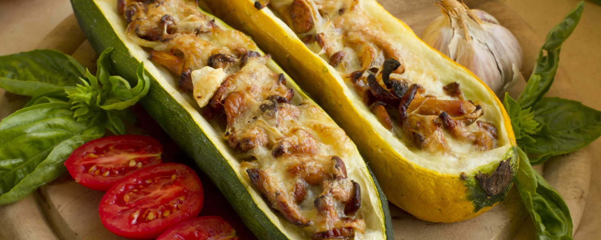 Photo for - Mushroom Stuffed Zucchini
