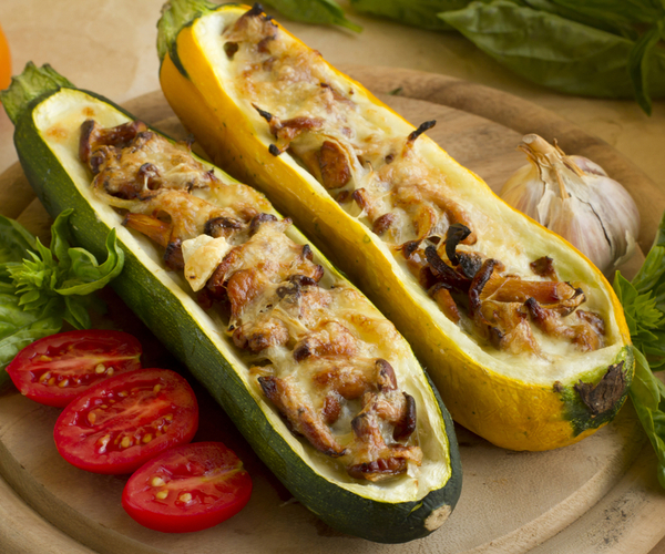 Photo of - Mushroom Stuffed Zucchini