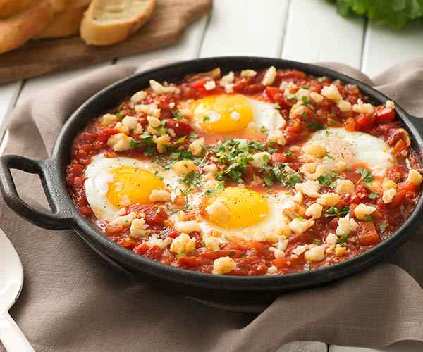 Photo of - Shakshuka with Goat Cheese