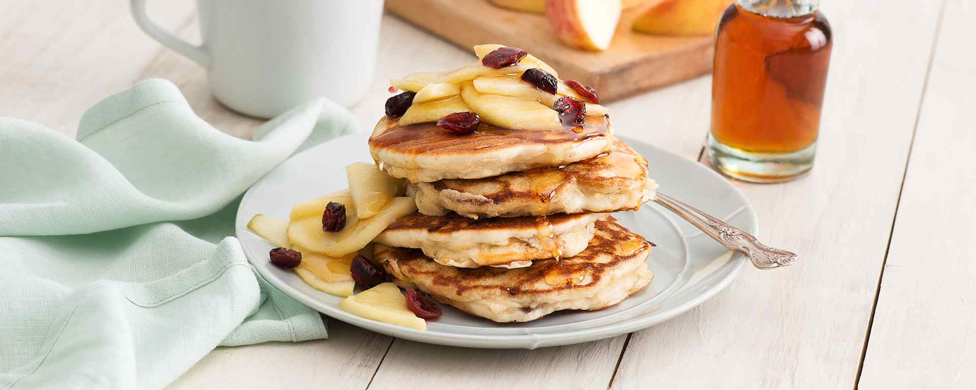 Photo of - Apple Cheddar Pancakes with Crispy Bacon