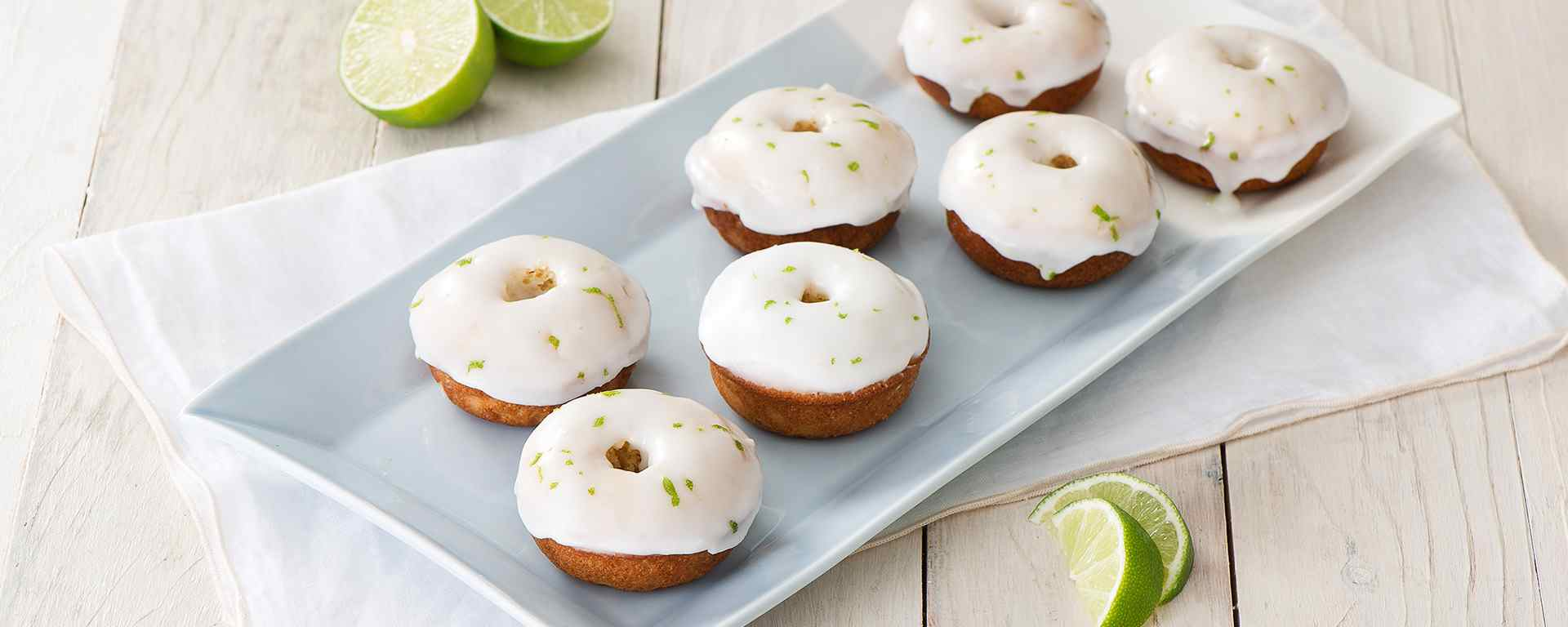 Photo for - Baked Sour Cream Doughnuts with Lime Glaze