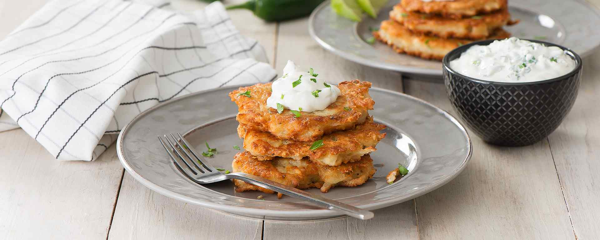 Photo for - Cheesy Jalapeño Latkes