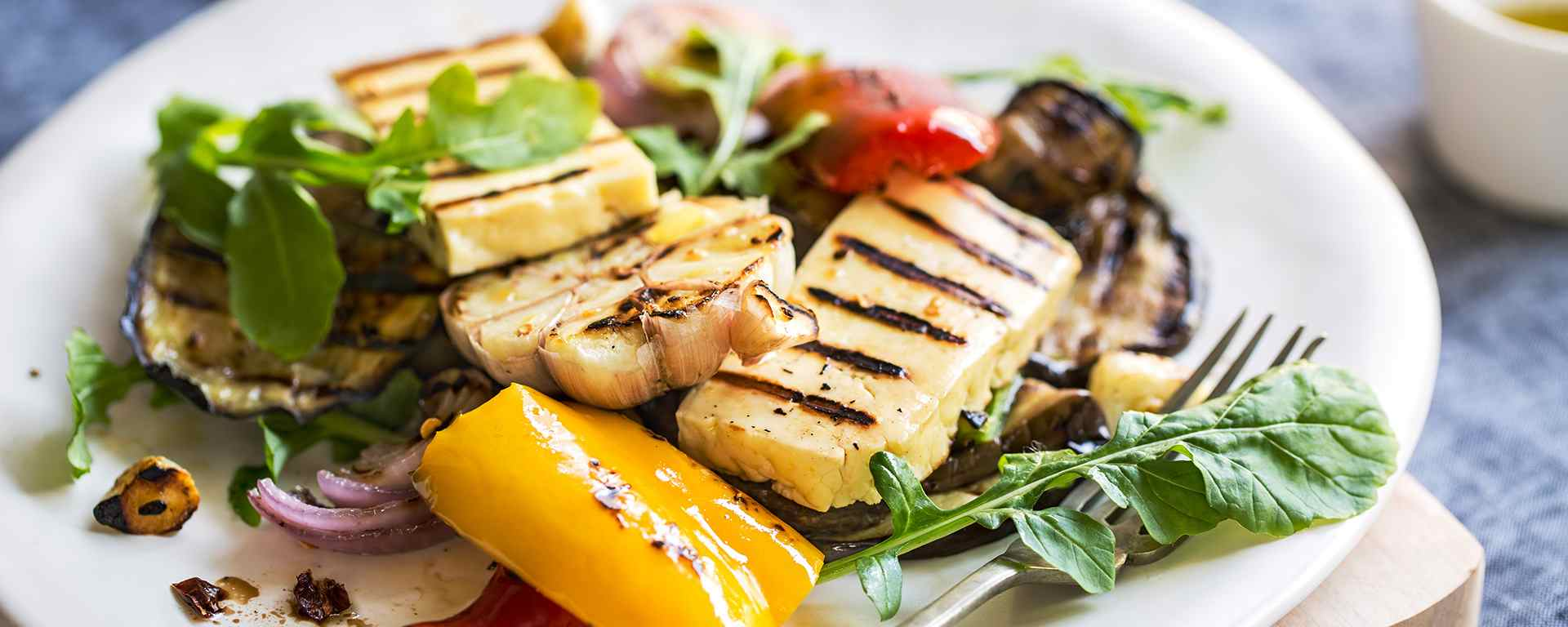 Photo for - Grilled Halloumi Cheese & Vegetable Salad