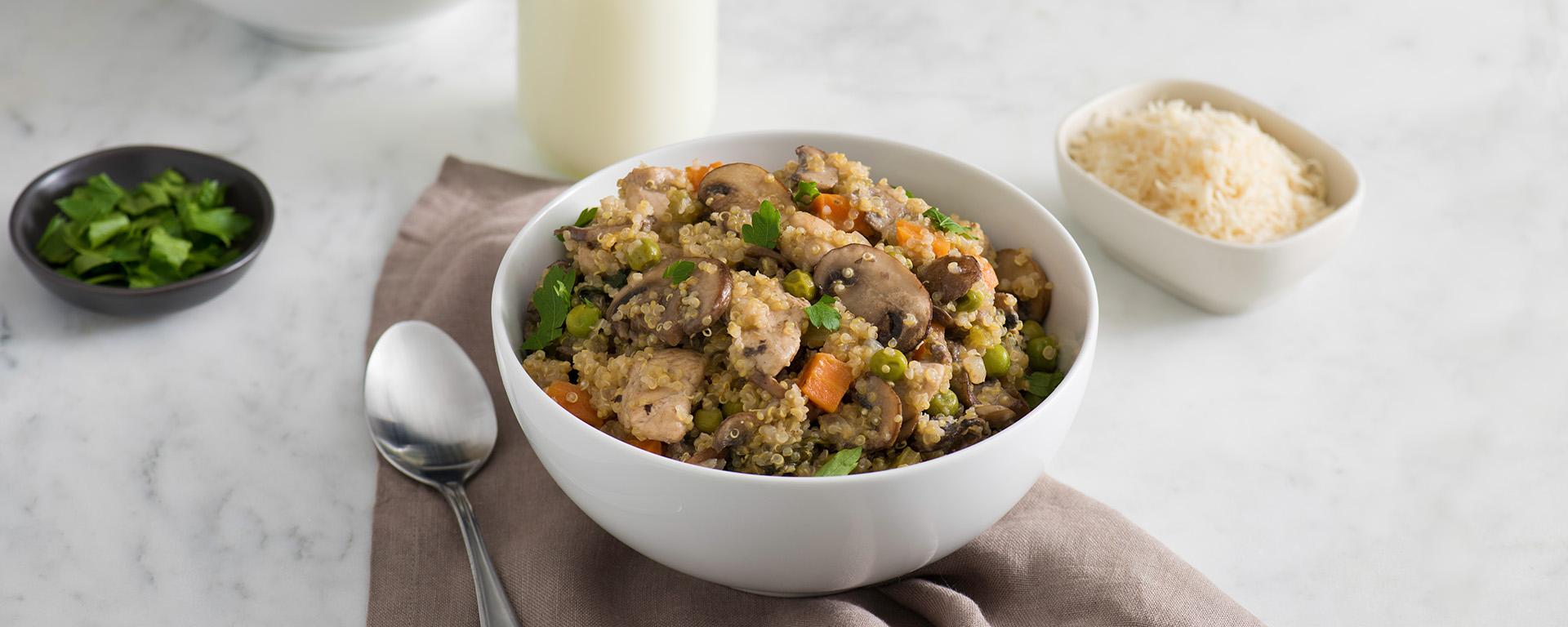 Photo for - Mushroom and Spinach Quinoa Risotto
