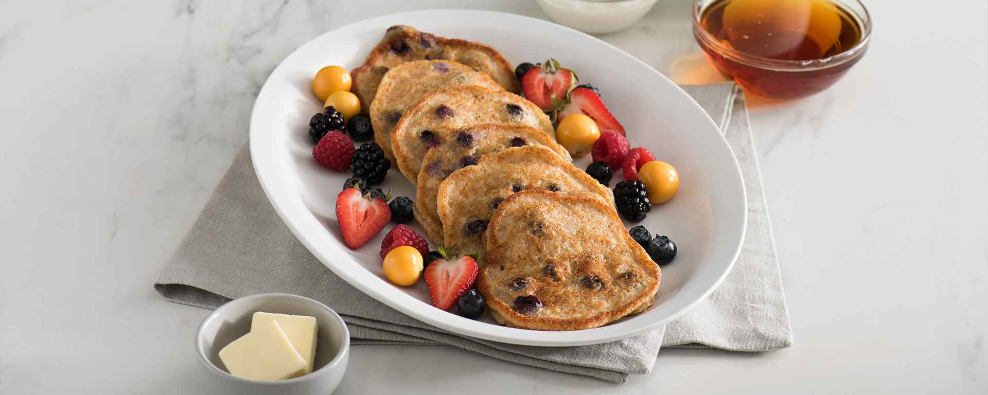 Photo for - Berry and Bran Cottage Cheese Pancakes