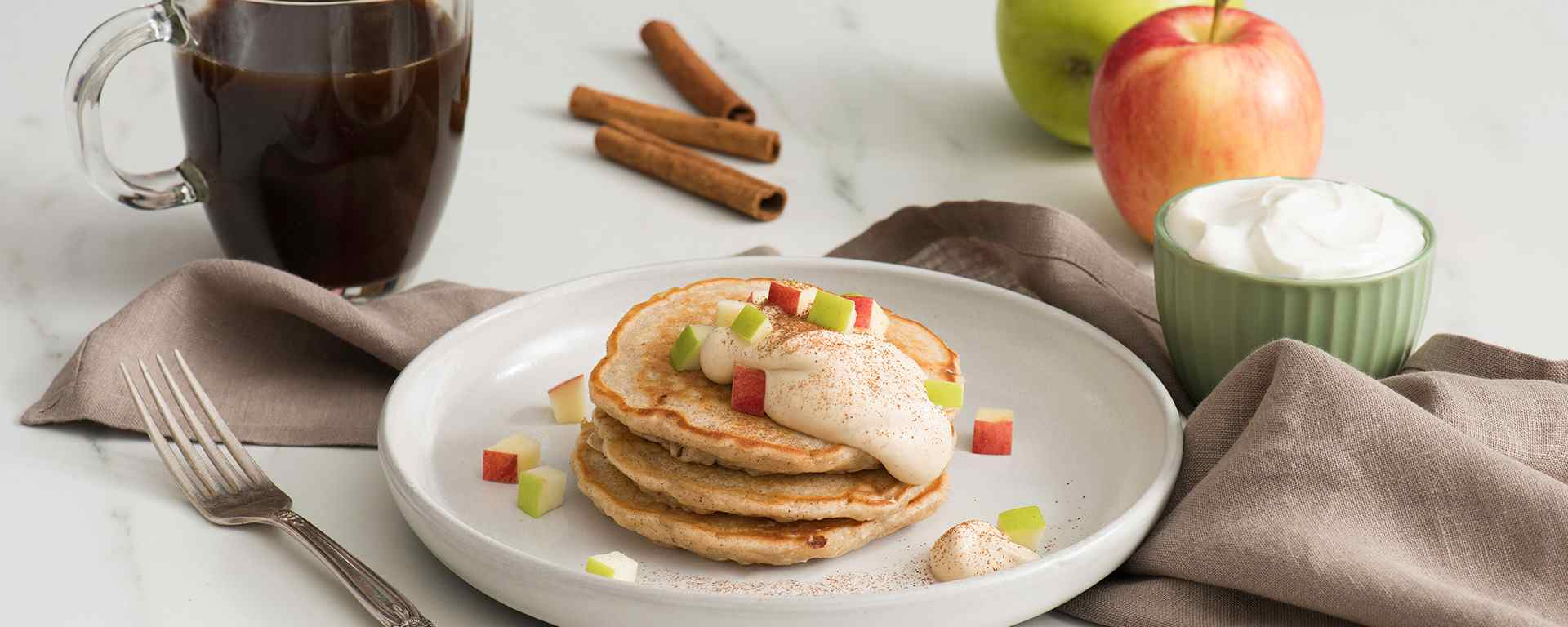 Photo for - Apple Pie Cottage Cheese Pancakes