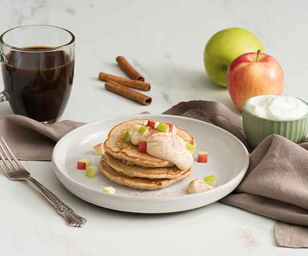 Photo of - Apple Pie Cottage Cheese Pancakes