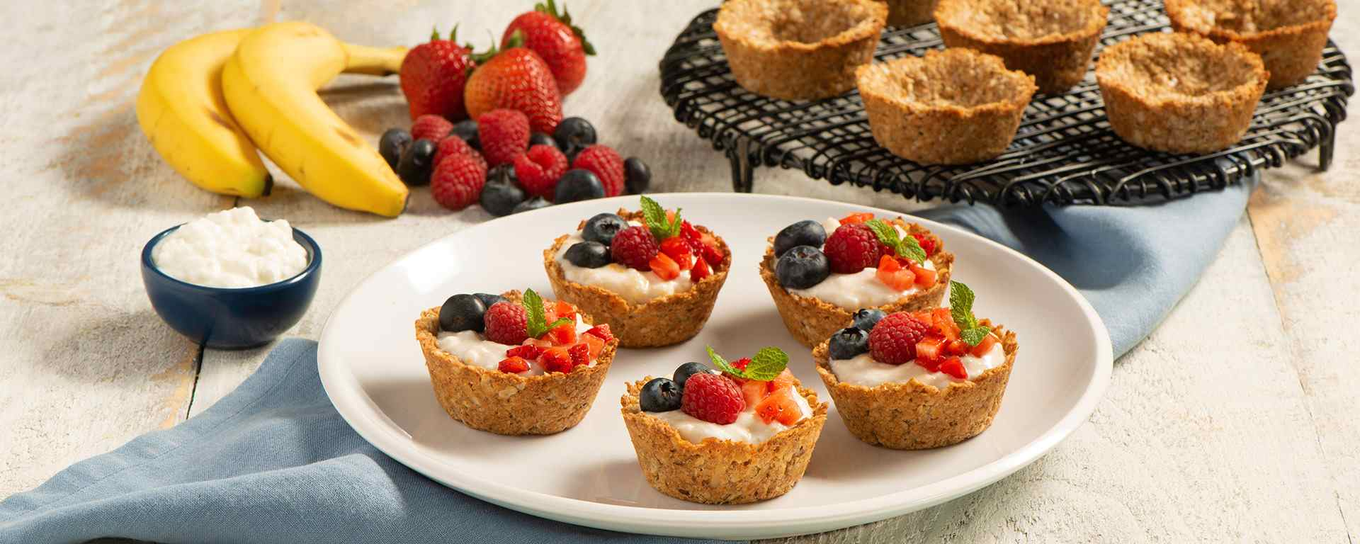 Photo for - Banana Berry Granola Cups with Coconut Cottage Cheese