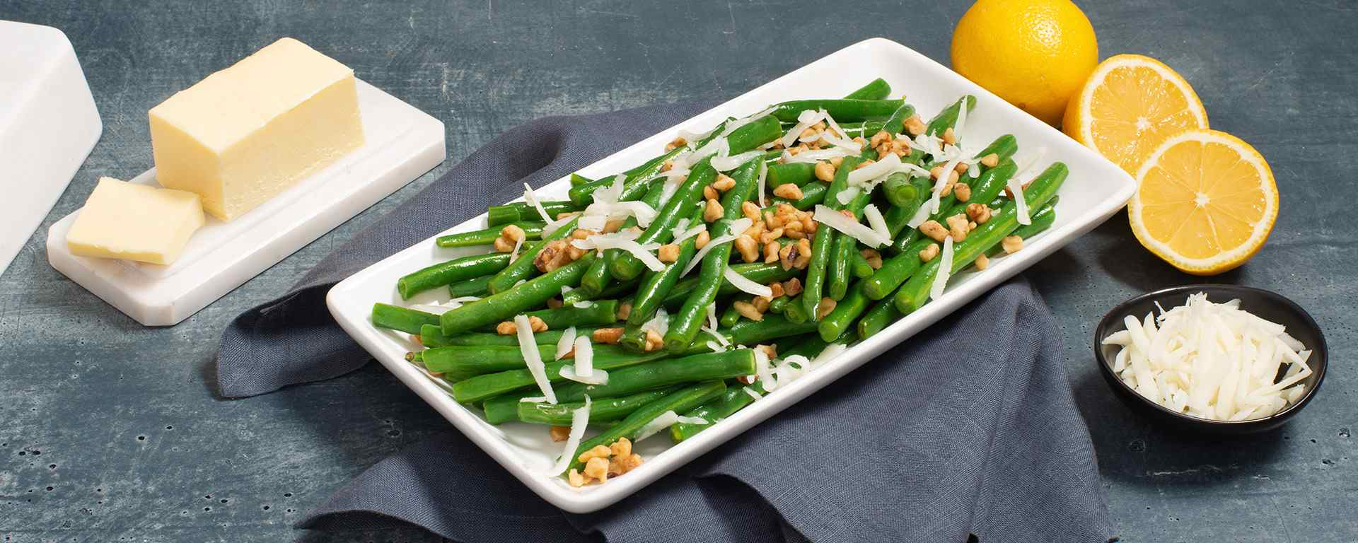 Photo for - Brown Butter Green Beans with Walnuts and Goat Cheese