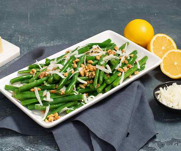 Photo of - Brown Butter Green Beans with Walnuts and Goat Cheese