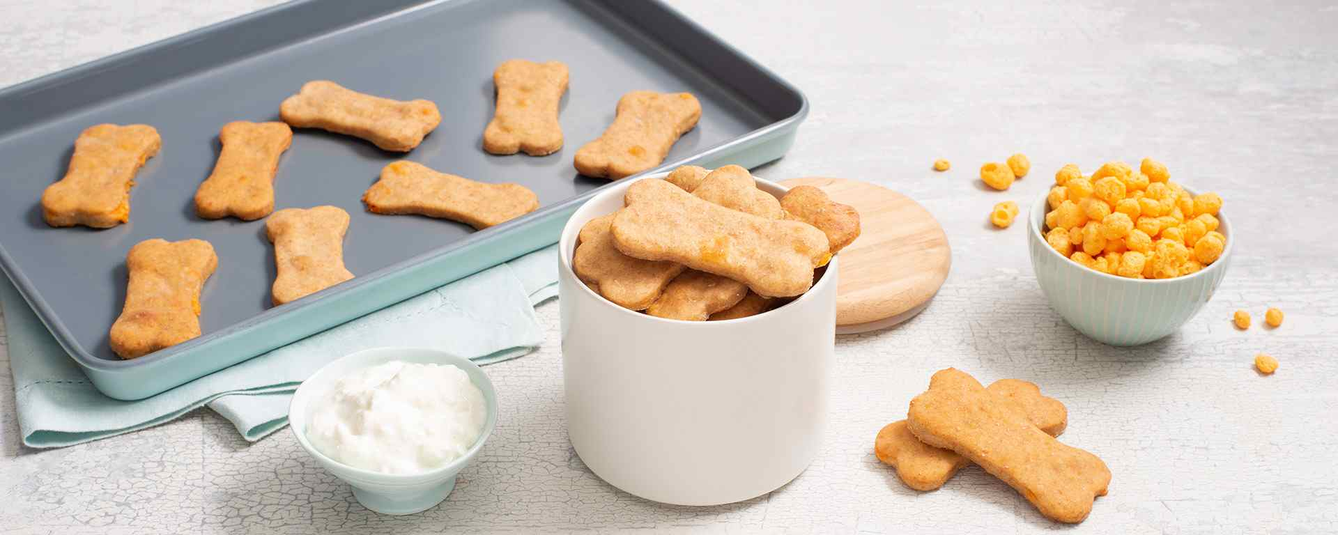 Photo for - Cheesy Peanut Butter Dog Biscuits
