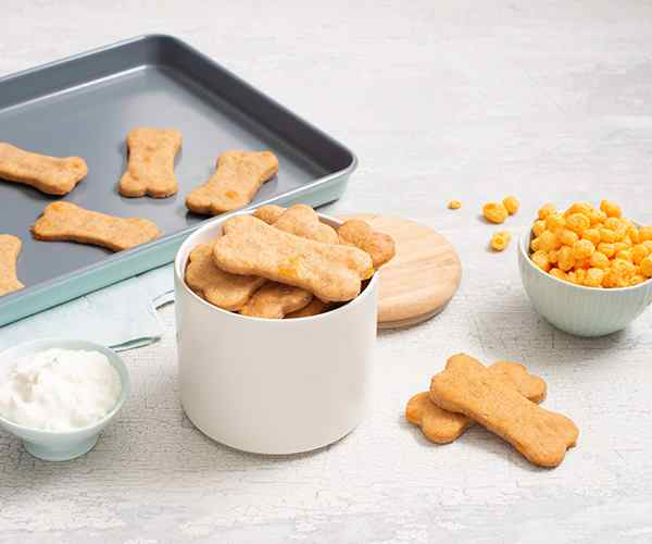 Photo of - Cheesy Peanut Butter Dog Biscuits