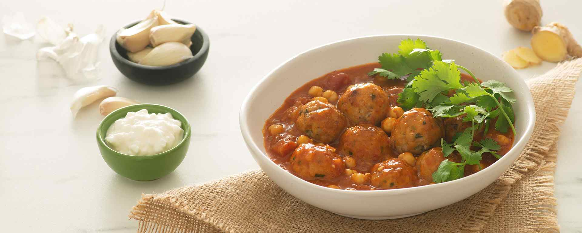 Photo for - Chickpea and Turkey Meatball Coconut Curry