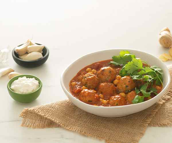 Photo of - Chickpea and Turkey Meatball Coconut Curry