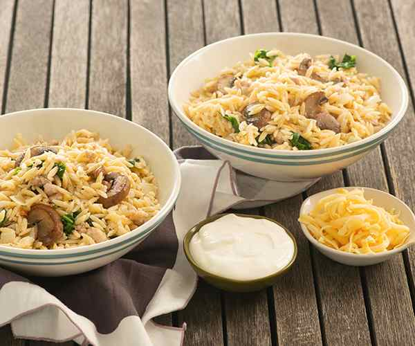 Photo of - Creamy Chicken, Spinach and Mushroom Orzo