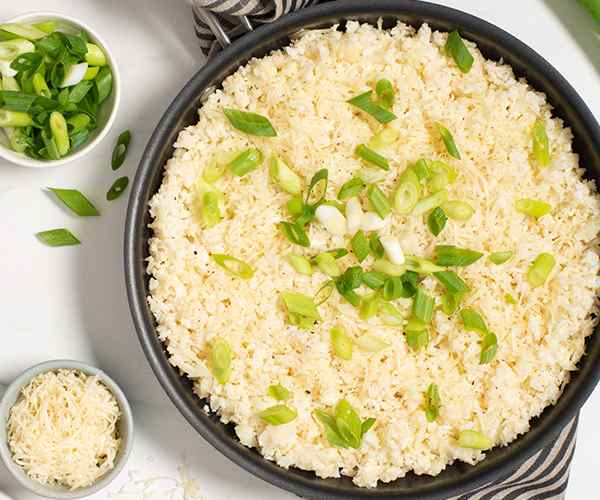 Photo of - Garlic and Pepper Cauliflower Rice