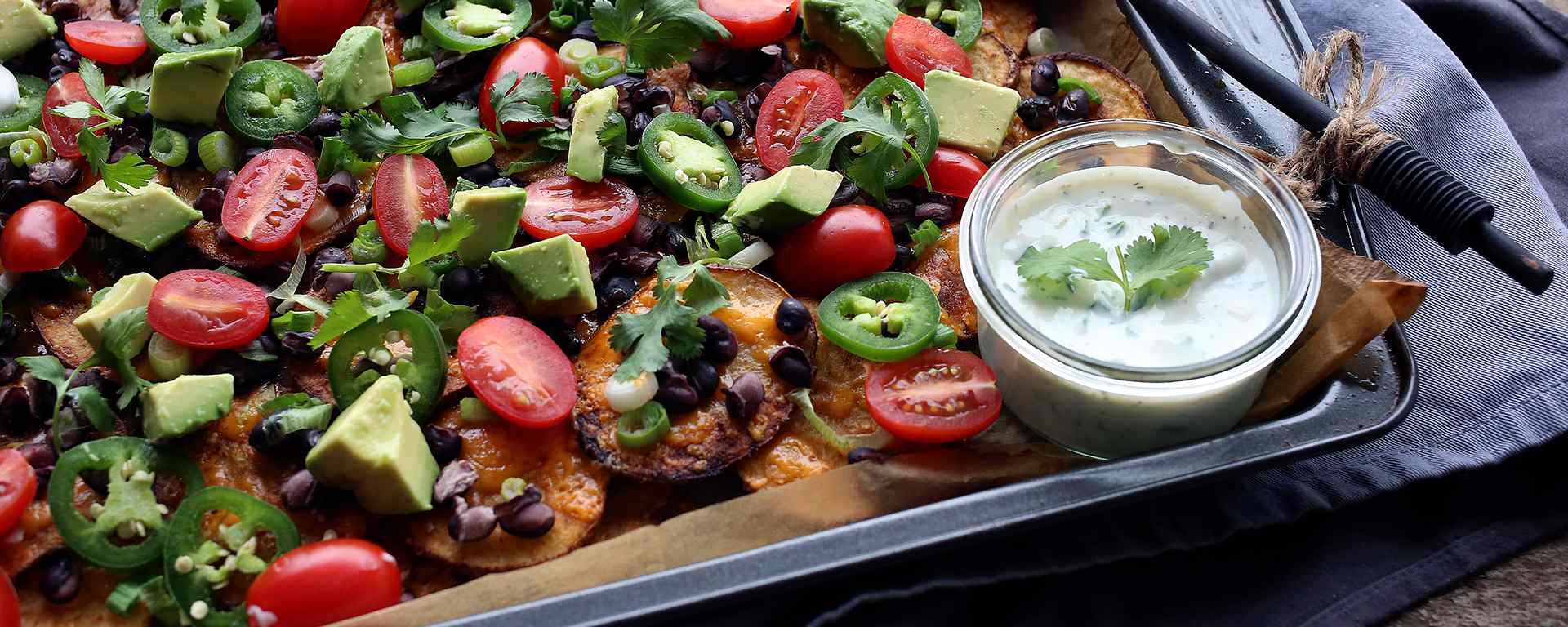 Photo for - Potato Nachos with Zesty Dill Ranch Dip