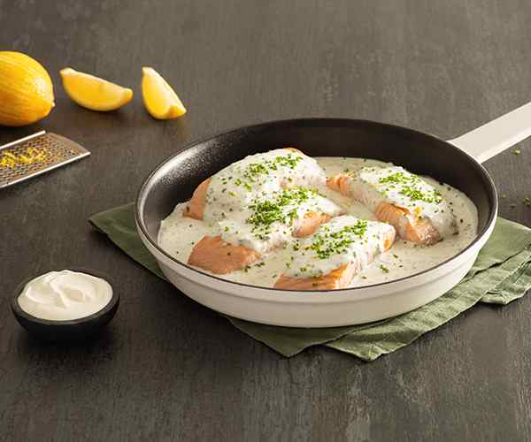 Photo of - Pan-Seared Salmon Fillets with Creamy Lemon-Chive Sauce
