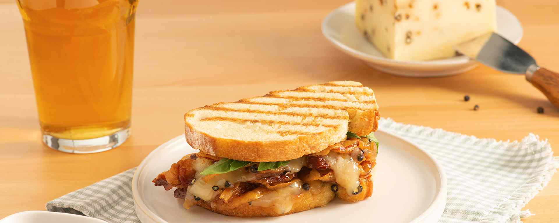 Photo for - Peppery Italian Grilled Panini with Balsamic Marmalade