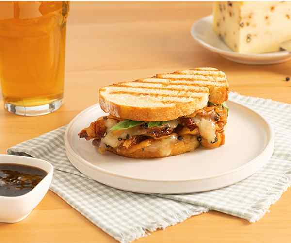 Photo of - Peppery Italian Grilled Panini with Balsamic Marmalade