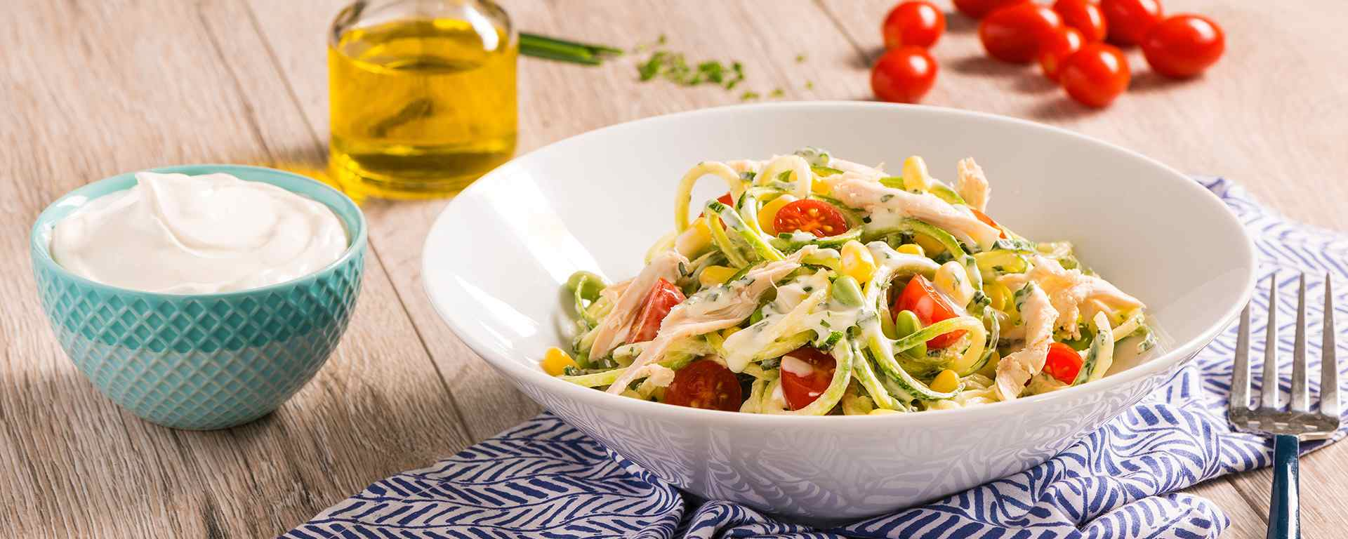 Photo for - Creamy Herbed Chicken Zoodle Salad