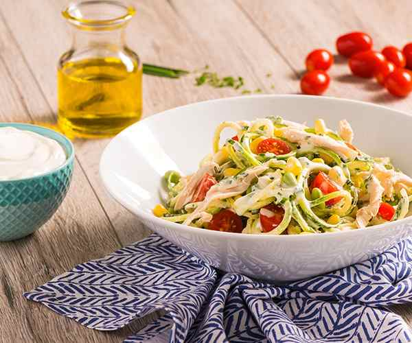 Photo of - Creamy Herbed Chicken Zoodle Salad