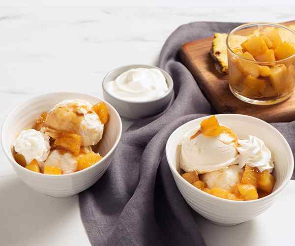 Photo of - Roasted Pineapple Sundae with Sour Cream Ice Cream