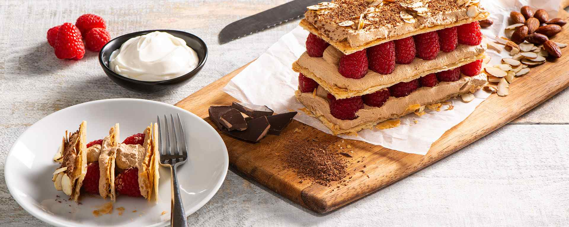Photo for - Sour Cream Chocolate and Raspberry Mille Feuille
