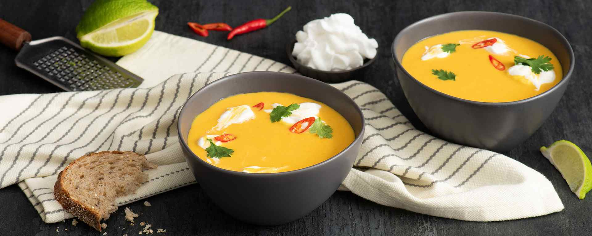 Photo for - Thai Sweet Potato Soup with Coconut-Lime Swirl