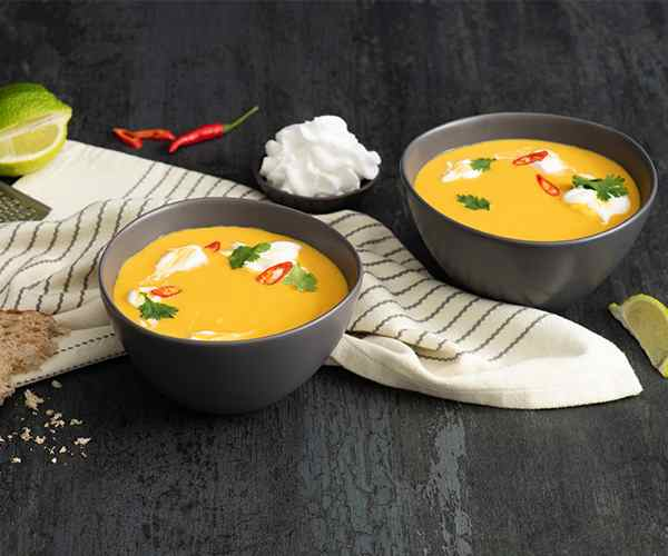 Photo of - Thai Sweet Potato Soup with Coconut-Lime Swirl