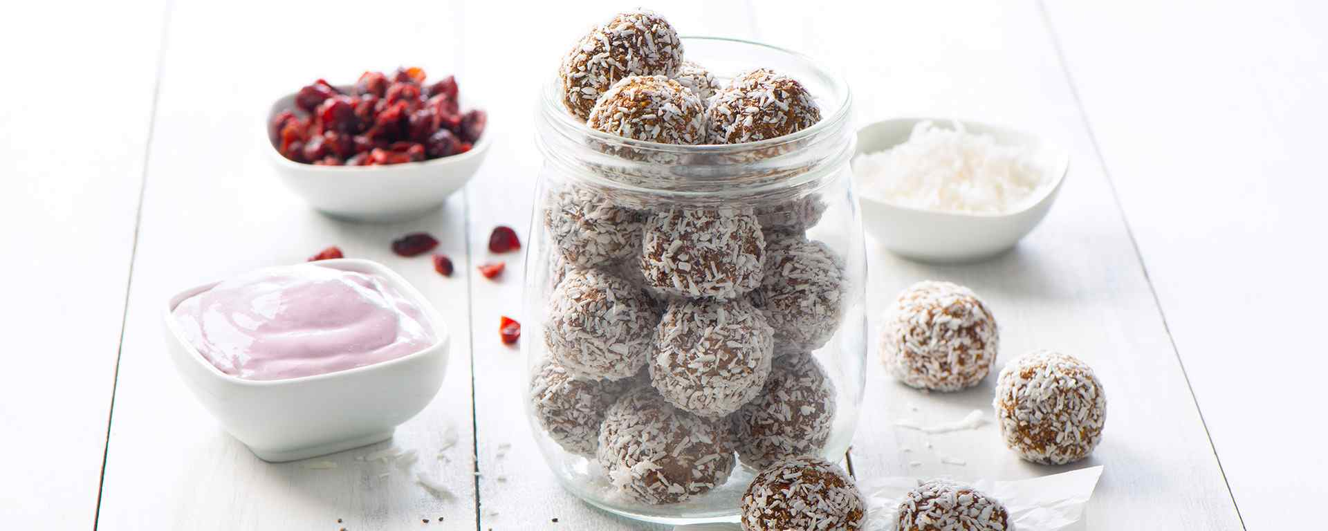Photo for - Berry Coconut Protein Bliss Balls