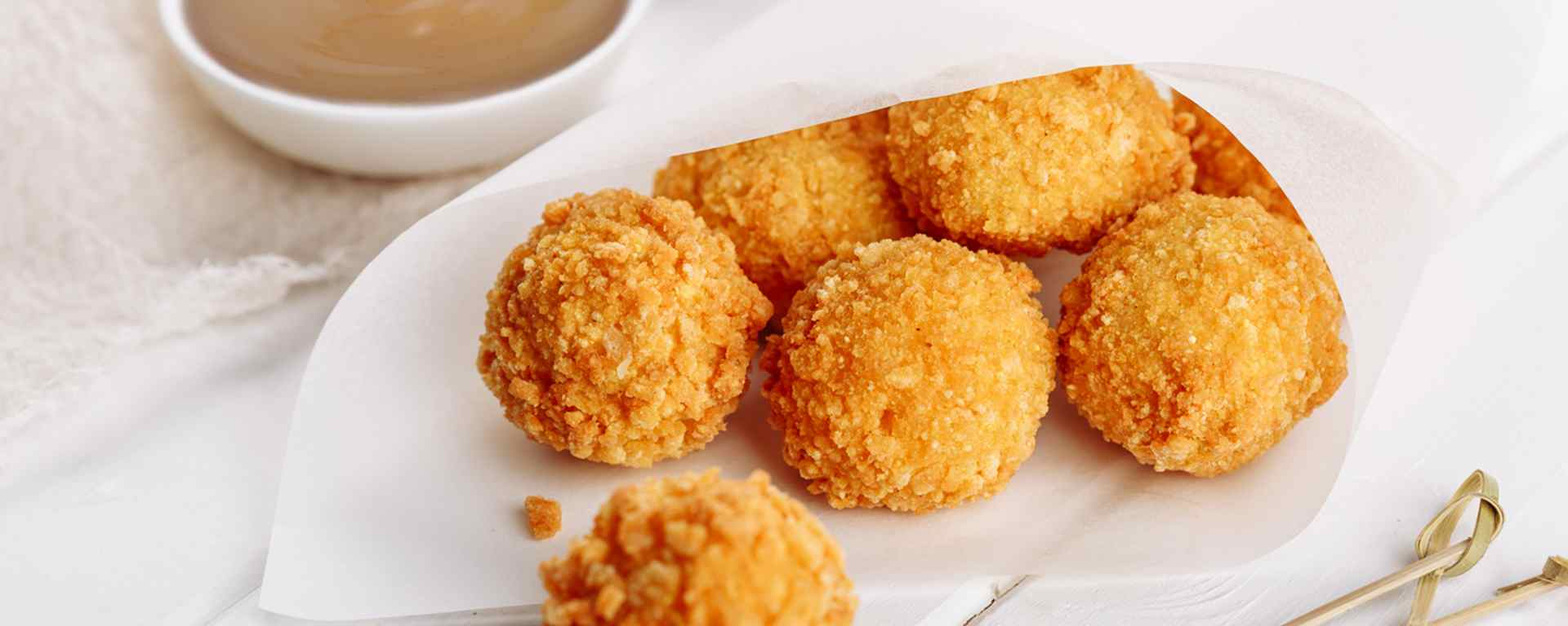 Photo for - Poutine Arancini with Ivanhoe Milled Cheddar Curds