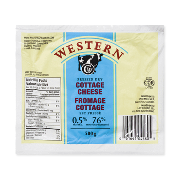 Photo of - Western Fromage Cottage Sec Pressé 0,5% MG