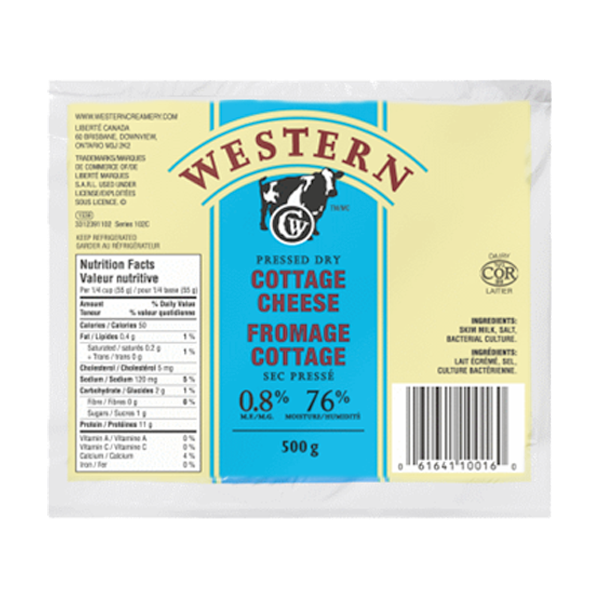 Photo of - Western Fromage Cottage Sec Pressé 0,8% MG
