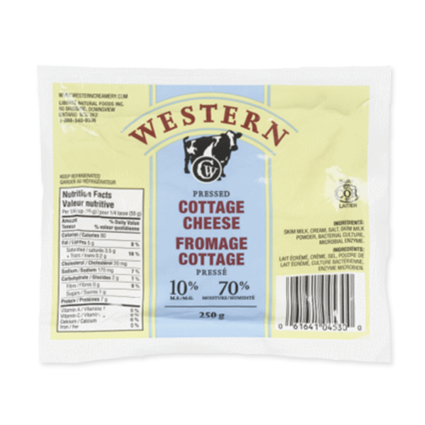 Photo of - Western Fromage Cottage Pressé 10% MG