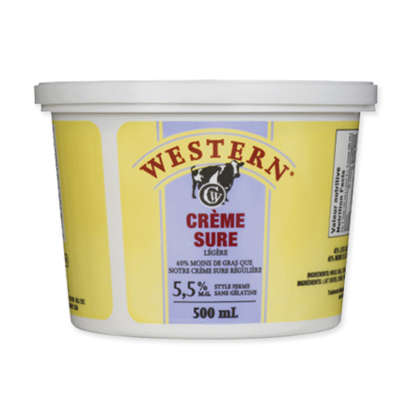 Photo of - Western Crème Sure Legere 5,5% MG Sans Gelatine