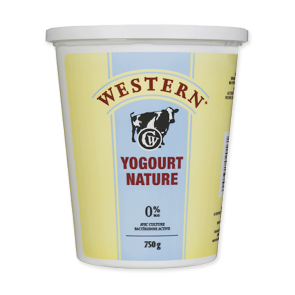 Photo of - Western Yogourt Nature 0% MG