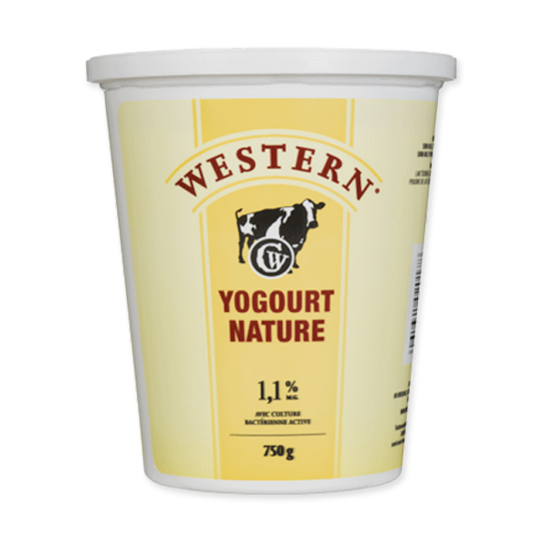 Photo of - Western Yogourt Nature 1,1% MG
