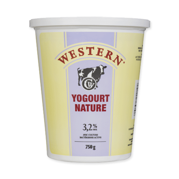 Photo of - Western Yogourt Nature 3,2% MG