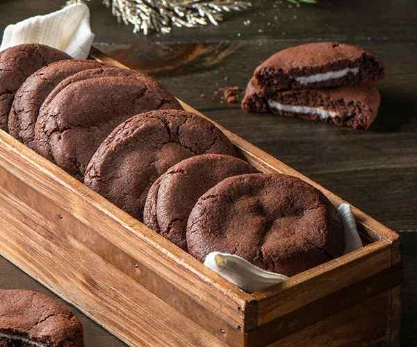 Photo of - Biscuits chocolat noir menthe